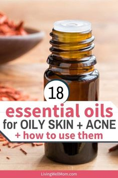 How to get the best results using essential oils for acne, pimples, and oily skin, plus a spot treatment roll-on blend recipe. Essential Oils Pimples, Manuka Essential Oil, Juniper Berry Essential Oil, Essential Oils For Face, Oregano Essential Oil, Essential Oils For Headaches, Cedarwood Essential Oil, Chamomile Essential Oil, Lemongrass Essential Oil