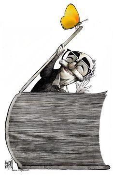 Angel Boligan - Homenagem a Gabriel García Márquez I Love Books, Good Books, Books To Read, My Books, Gabriel Garcia, World Of Books, I Love Reading, Happy Reading, Reading Time