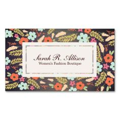 Country Flowers Fashion Wood Grain Look Business Cards. I love this design! It is available for customization or ready to buy as is. All you need is to add your business info to this template then place the order. It will ship within 24 hours. Just click the image to make your own!