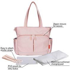 Miya-J Diaper Bag Insert Organizer for Mom with 13 Storage Pockets Changing Bag in Bag Grey