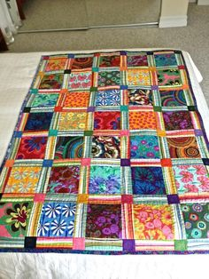 Kaffe Fassett Quilt - large scale prints and stripes
