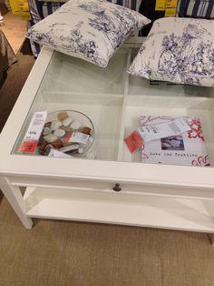 Ikea White Display Coffee Table