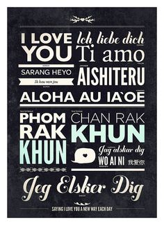 I love you, translated into other languages