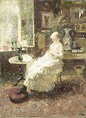 Jan Toorop - Portrait of Annie Toorop-Hall (1885)