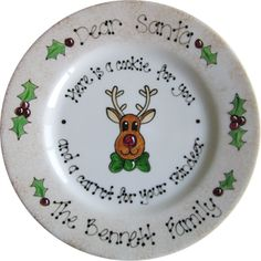 Dear Santa plate. Love this idea for little kids... and big ones too ;)