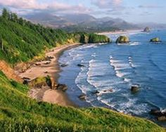 Crescent Beach at Ecola State Park on Oregon Coast Most beautiful state park I've ever seen Oregon Coast, Pacific Coast, Pacific Northwest, State Parks, Vancouver, Costa, Ecola State Park, States In America, 50 States