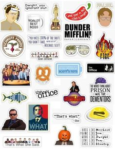 The office sticker pack for editing overlays stickers aesthetic cute laptop stickers hydroplane dunder mifflin bears beats battle star galatica dwight schrute michael scott thats what she said pam jim the office the tv show The Office Stickers, Cute Laptop Stickers, Meme Stickers, Tumblr Stickers, Phone Stickers, Cool Stickers, Printable Stickers, Bullet Stickers, Wallpaper Stickers