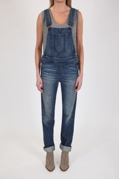 The Boyfriend Overall by Black Orchid denim  really love the fit, great with boots and a t #blackorchid