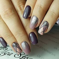 Purple, lilac, pink and glitter silver art deco great gatsby nails Purple, lilac, pink and glitter silver art deco great gatsby nails Purple Manicure, Nail Manicure, Pink Nails, Glitter Nails, Gel Nails, Pink Glitter, Manicure Ideas, Elegant Nails, Stylish Nails