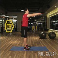 Jatomi Fitness ile 6 haftada fit olmaya ne dersiniz? 2. haftanın dördüncü hareketi: FULL SQUAT: Ellerinizi öne dümdüz uzatın, diz seviyesinin olabildiğince altına inerek çömelip kalkın.