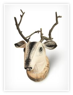 DEER HEAD by Nadya Sheremet, via Behance