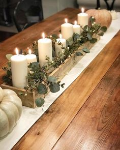 Plant Box Centerpiece This centerpiece looks great with a . Thanksgiving Plant Box Centerpiece This centerpiece looks great with a .Thanksgiving Plant Box Centerpiece This centerpiece looks great with a . Table Centerpieces For Home, Wood Box Centerpiece, Thanksgiving Centerpieces, Wedding Centerpieces, Diy Thanksgiving, Centrepieces, Dining Room Centerpiece, Long Table Decorations, Autumn Centerpieces