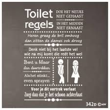 Afbeeldingsresultaat voor wc spreuken netjes
