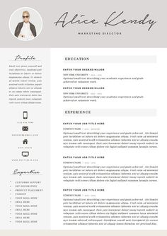 resume template 4 page word diy printable cv por theresumeboutique