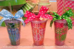 Preppy Pathwork 24oz monogrammed Tumblers by preppypapergirl, $20.00