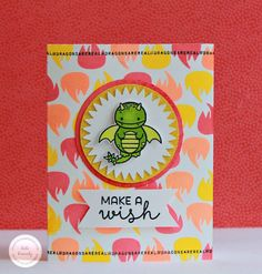 Sweet Stamp Shop - Princess  Dragon  Card by Kate Kennedy, DT  Set available in Australia from www.dawnlewis.com.au #sweetstampshop #fairytalestamps
