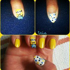 Minions nail art :D