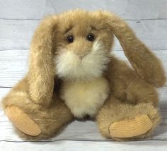 """Stuffed Rabbit Easter Bunny Long Ear Lop EarBy Rare Hares No E1402 Brown 9"""""""