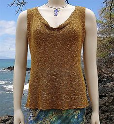 This lovely top knits up beautifully in Cascade Ultra Pima!  (Ravelry: gypsy pattern by Cheri Christian)