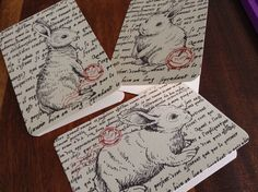 Beautiful little bunnies by The Poppy Seed Collective www.poppyseedcollective.com