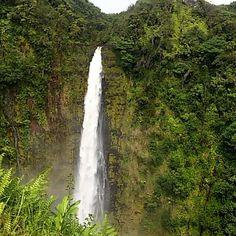 #akakafalls nach dem Regen von gestern Nacht sehr gross.... #hawaii #bigisland