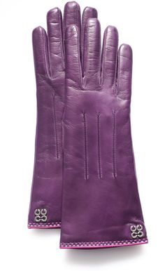 love these gorgeous leather gloves, cashmere lined, by Coach. So many yummy colors, but really liking this purple :))