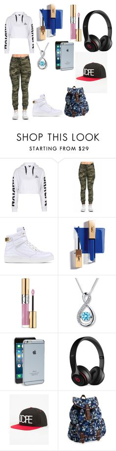 """""""Swag my thing"""" by nmcneil-nm ❤ liked on Polyvore featuring Topshop, Moschino, Yves Saint Laurent, Moshi, Beats by Dr. Dre, Dope and Aéropostale"""