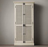 Could use the old creme shutters for doors Shutter Cabinets