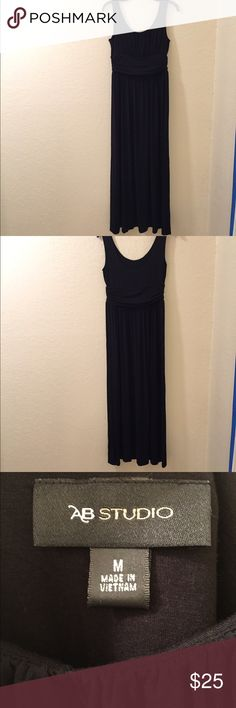 AB Studio BLACK Maxi dress *Washed Once* The simplicity of this dress allows for endless style possibilities. It will hug your curves in all the right places while it flows like a dream. This dress will make you look and feel chic. Super comfortable, too! Removed tags, washed and never ended up wearing. AB Studio Dresses Maxi