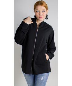 Giacca con zip dalla vestibilità regolare con doppia tasca america nel girovita.