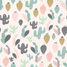 Cacti Pattern Wallpaper - 25\W x 225\H