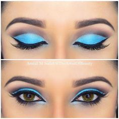 Sky Blue Cut Crease (Hair and Beauty Tips)