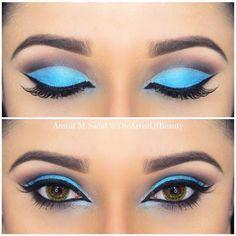 Sky Blue Cut Crease (Hair and Beauty Tips)