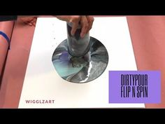 Fluid Painting Dirty Pour Flip and Spin!!! Really neat End Result!! Please Share and Subscribe!! - YouTube