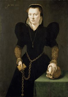 "1568_Katherine Clough, ""Katherine of Berain"".  Artist: attr.  Adriaen van Cronenburgh  National Museum of Wales."