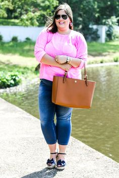 Casual Friday Favorites || Neon pink sweater