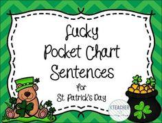 St. Patrick's Day Pocket Chart Sentence Builders {Freebie}