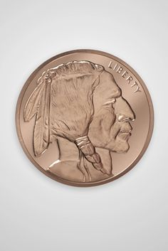 Appeal to the Great Spirit 1oz Pure Copper Bullion Round!! Native Americans
