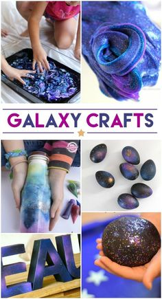 16 Cool Galaxy Crafts to do for Galactic Starveyors. Check out these VBS crafts. Galaxy Crafts, Diy Galaxy, Galaxy Room, Galaxy Nursery, Galaxy Jar, Pot Mason Diy, Mason Jar Crafts, Craft Projects, Projects To Try