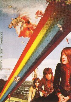 Emerson Lake & Palmer, by Tadanori Yokoo. Their US debut album was released January 13, 1971.