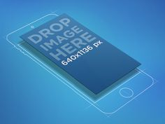 A modern, slick sketched iPhone 6 mockup over a blue background. This versatile PSD mockup can fit any app that needs to be showcased, specially early designs. The fine-line sketch has a floating s...