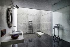 glas beton wohnhaus stein mit moderner architektur
