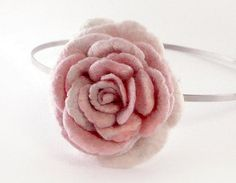Pale pink rose headband by Roltinica on Etsy, $33.00