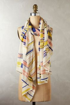 Dear Stitch Fix Stylist, I am trying to experiment with scarves more. I like this print. Nice pop! Pixadel Silk Scarf / anthropologie.com