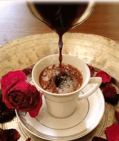 Turkish Coffee With Chocolate - Coffee Beans Tree - - - Coffee Menu Illustration - Coffee Tea Thoughts Coffee Gif, Coffee Images, I Love Coffee, Coffee Break, My Coffee, Coffee Quotes, Coffee Menu, Gif Café, Good Morning Coffee