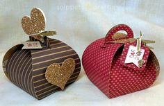 Snippets and Pretties: Curvy Keepsake boxes