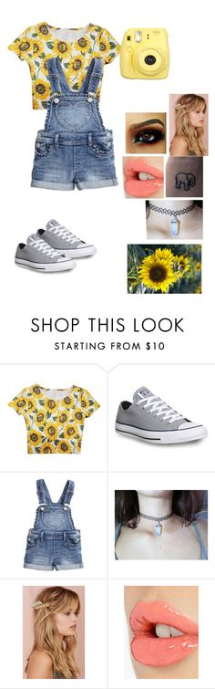 """""""Flower Child"""" by brittanyfahnel ❤ liked on Polyvore featuring Converse, Charlotte Tilbury, cute, outfit and MyStyle"""