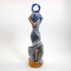 Goddess Sophia Statue Wisdom Moebius Ring Series by LisaGarnerArt Gaia Goddess, Polymer Clay Sculptures, Flowing Dresses, Blue Green, Purple, Altars, Archaeology, Mythology, Mystery