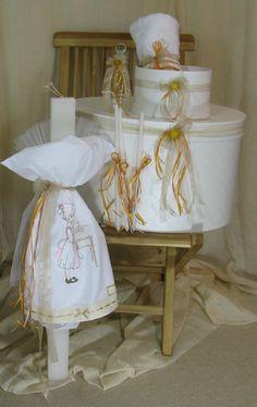 Vintage, Aussergewöhnlich Taufe-Set für Mädchen Chair, Vintage, Furniture, Home Decor, Dekoration, Ideas, Stool, Vintage Comics, Interior Design