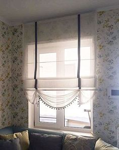 Which Curtain Rod Is Better Photos) - Size / Height / Long .- Какой Карниз Для Штор Лучше Фото) – Размер/ Высота/ Длина Newl Eaves for curtains: necessity or luxury? Living Room Decor Curtains, Home Curtains, Curtains With Blinds, Diy Blinds, Shades Blinds, Furniture Upholstery, Home Decor Furniture, Vintage Window Treatments, Happy Room